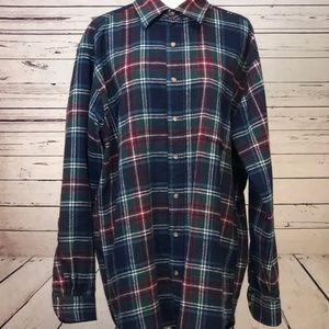 Pendleton Large Long Plaid 100% Virgin Wool Shirt